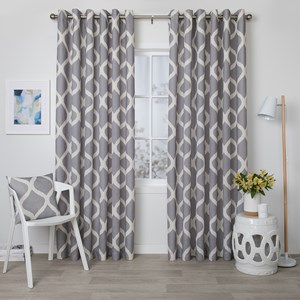 Arlo Cement - Readymade Lined Eyelet Curtain