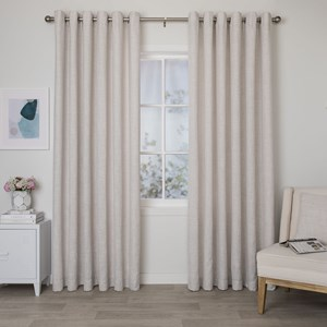 Aspen Pumice - Readymade Lined Eyelet Curtain