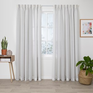 Atlanta Sand - Readymade Sheer Pencil Pleat Curtain