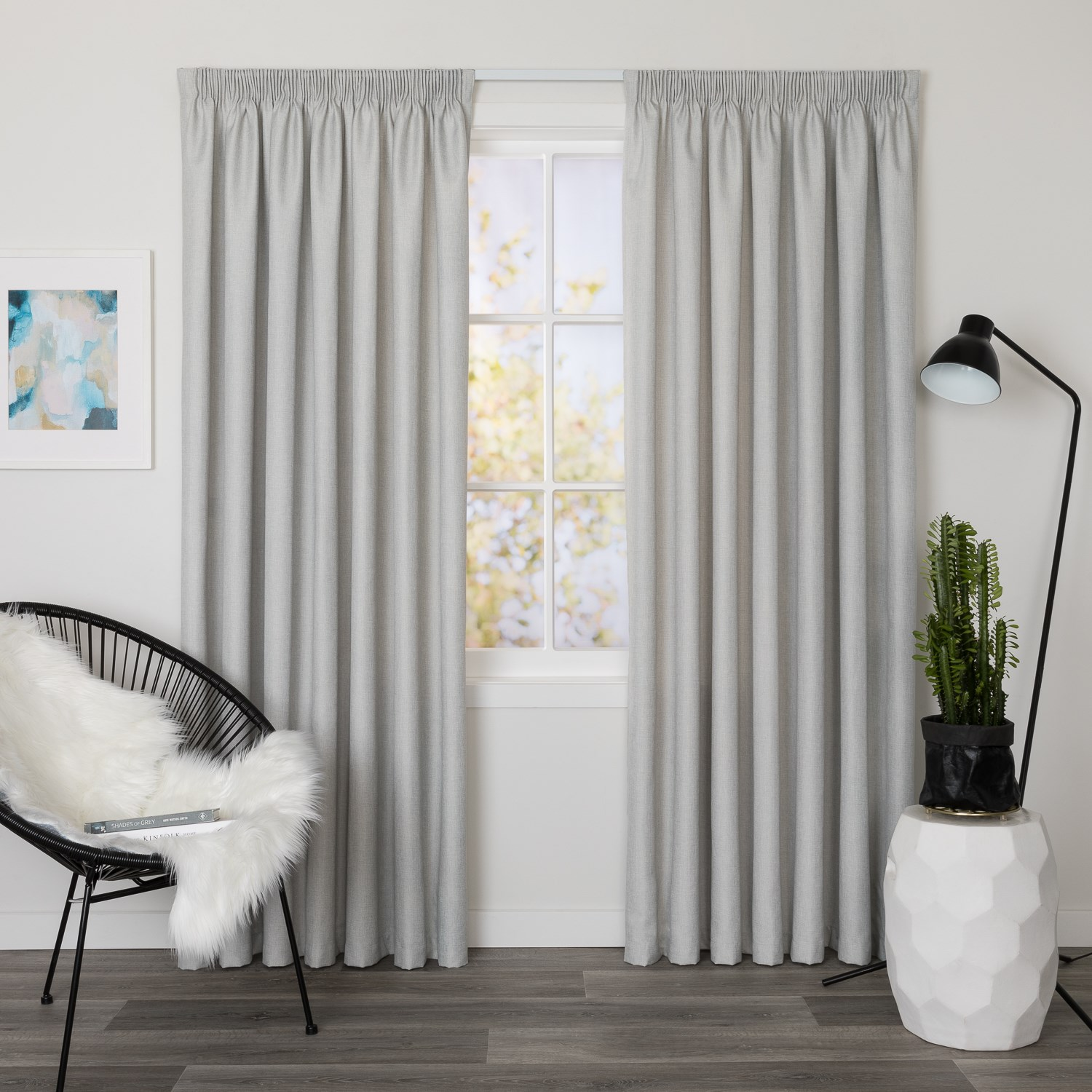 Bentley Stone - Readymade Thermal Pencil Pleat Curtain