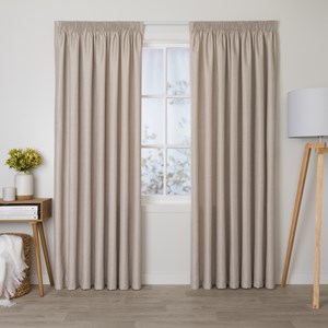 Clearance Bentley Pumice - Readymade Thermal Pencil Pleat Curtain