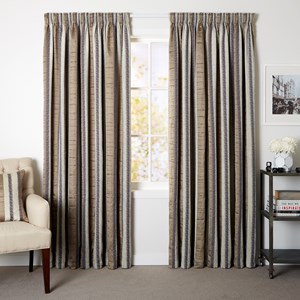 Estate Latte - Readymade Lined Pencil Pleat Curtain