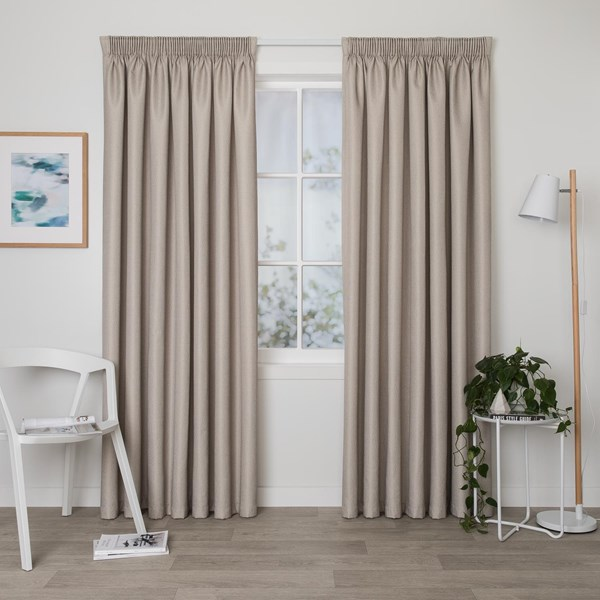 Cove Sand - Readymade Thermal Pencil Pleat Curtain