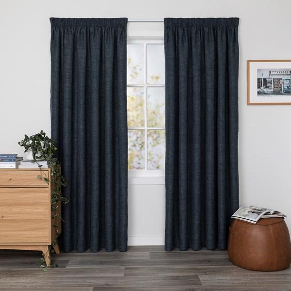 Hunter Denim - Readymade Triple-Weave Pencil Pleat Curtain