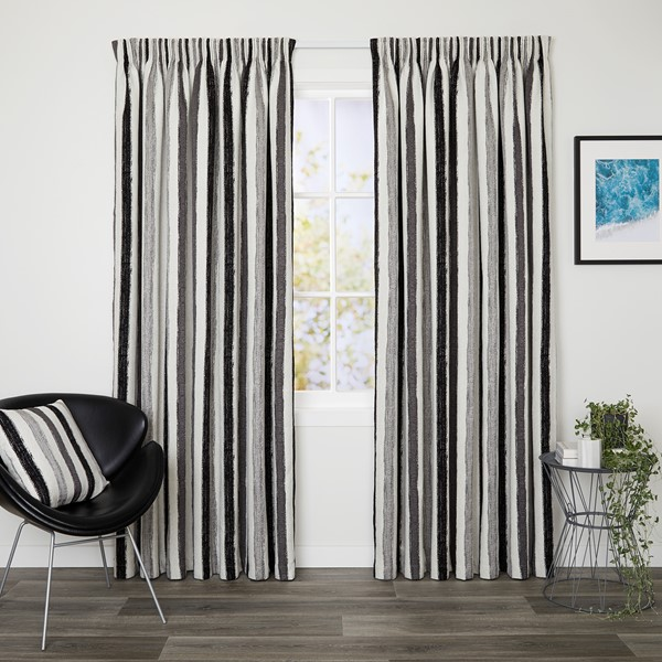 Lincoln Slate - Readymade Lined Pencil Pleat Curtain