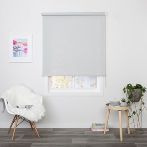Madison White Grey - Readymade Sunscreen Roller Blind