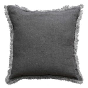 Stonewashed-Linen Charcoal - Cushion