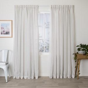 Ashley Moonlight - Readymade Sheer Pencil Pleat Curtain