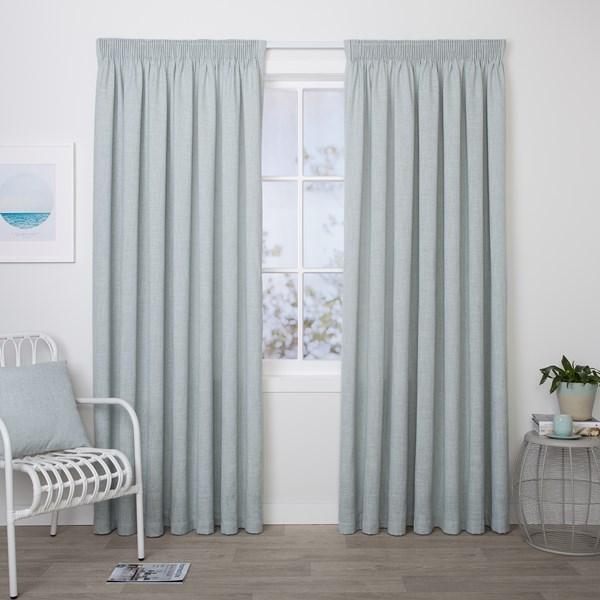 Aspen Mist - Readymade Lined Pencil Pleat Curtain