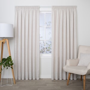 Aspen Pumice - Readymade Lined Pencil Pleat Curtain