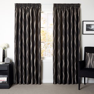 Astoria Steel - Readymade Lined Pencil Pleat Curtain