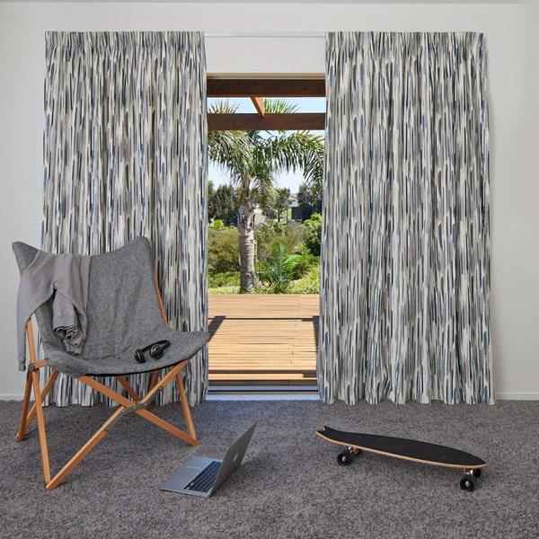 Austin Denim - Readymade Thermal Pencil Pleat Curtain