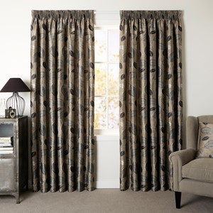 Bramley Driftwood - Readymade Lined Pencil Pleat Curtain