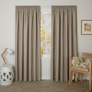 Bristol Hemp - Readymade Blockout Pencil Pleat Curtain