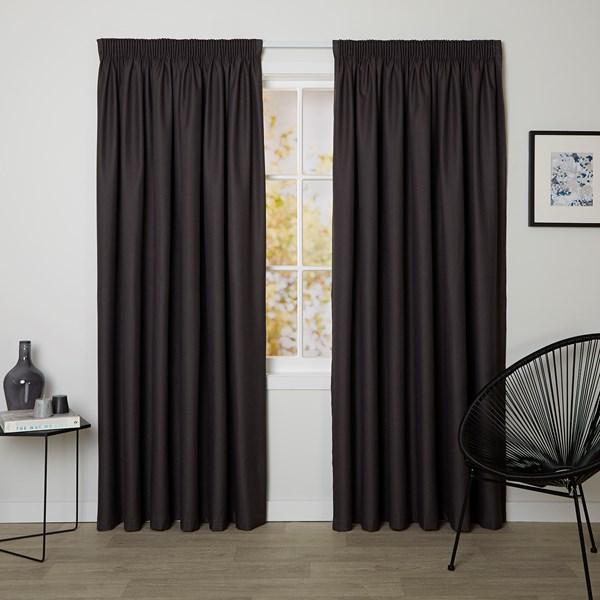 Bristol Raisin - Readymade Blockout Pencil Pleat Curtain