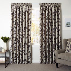Beaumont Ash - Readymade Lined Pencil Pleat Curtain