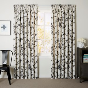 Victoria Natural - Readymade Thermal Pencil Pleat Curtain