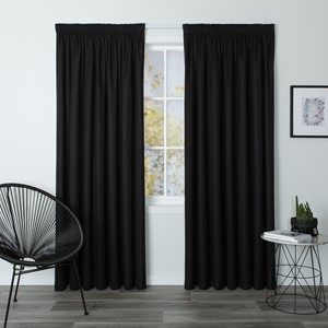 Cosmo Jet - Readymade Blockout Pencil Pleat Curtain