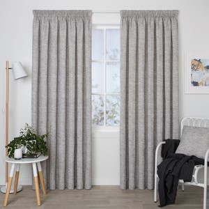 Dawson Ash - Readymade Lined Pencil Pleat Curtain