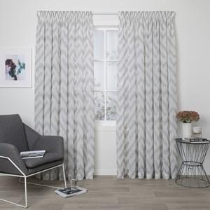 Drift Smoke - Readymade Sheer Pencil Pleat Curtain