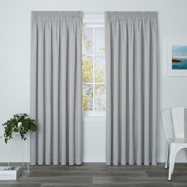 Eaton Concrete - Readymade Thermal Pencil Pleat Curtain