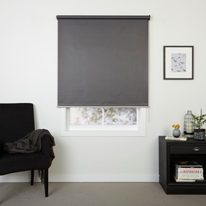 Hudson Charcoal - Readymade Blockout Roller Blind