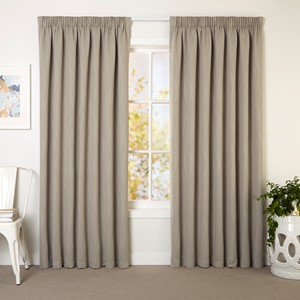 Icon Stone - Readymade Triple-Weave Pencil Pleat Curtain
