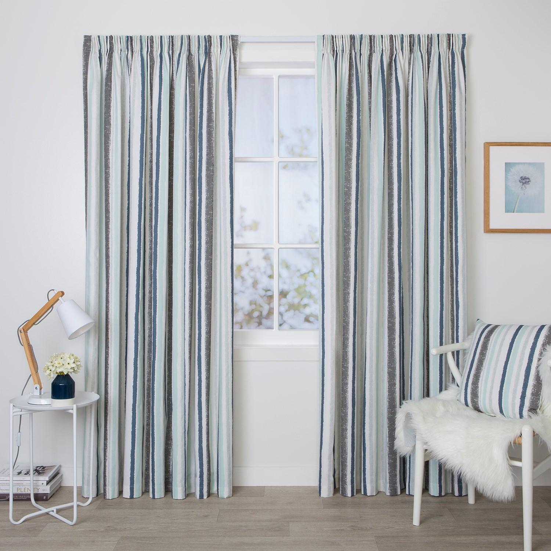 Jordan Ocean - Readymade Thermal Pencil Pleat Curtain