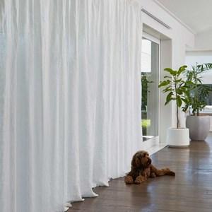 Montauk Chalk - Readymade Sheer Pencil Pleat Curtain