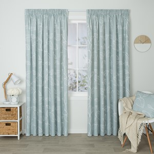 Oslo Seafoam - Readymade Thermal Pencil Pleat Curtain