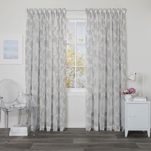 Sabine Mist - Readymade Sheer Pencil Pleat Curtain