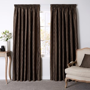 Stratton Moleskin - Readymade Lined Pencil Pleat Curtain