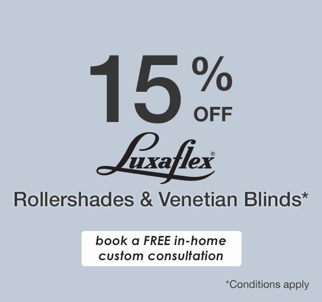 15% off Luxaflex